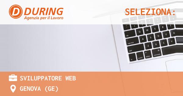 OFFERTA LAVORO - SVILUPPATORE WEB - GENOVA (GE)
