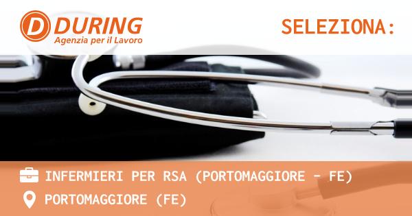 OFFERTA LAVORO - INFERMIERE/A PER RSA (PORTOMAGGIORE - FE) - PORTOMAGGIORE (FE)