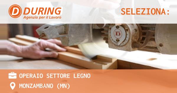 OFFERTA LAVORO - OPERAIO SETTORE LEGNO - MONZAMBANO (MN)
