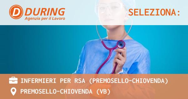 OFFERTA LAVORO - INFERMIERE PROFESSIONALE - PREMOSELLO-CHIOVENDA (VB)