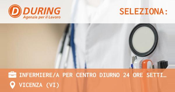 OFFERTA LAVORO - INFERMIERE/A PER CENTRO DIURNO 24 ORE SETTIMANALI - VICENZA (VI)