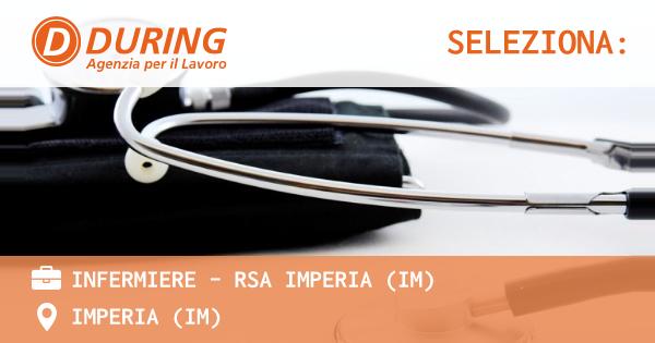 OFFERTA LAVORO - INFERMIERE - RSA IMPERIA (IM) - IMPERIA (IM)
