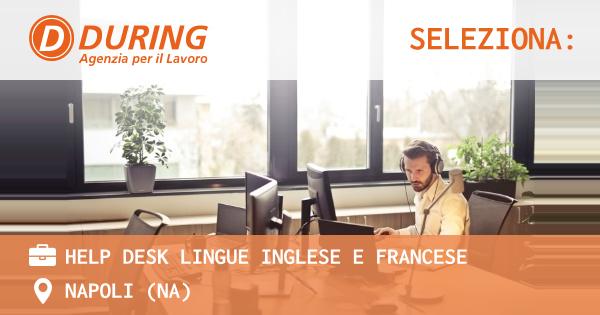 HELP DESK LINGUE INGLESE E FRANCESE