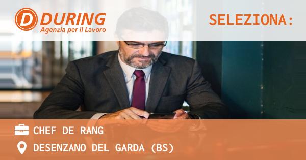 OFFERTA LAVORO - CHEF DE RANG - DESENZANO DEL GARDA (BS)