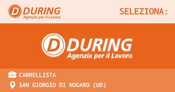 OFFERTA LAVORO - CARRELLISTA - SAN GIORGIO DI NOGARO (UD)