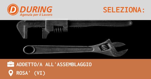 OFFERTA LAVORO - ADDETTO/A ALL'ASSEMBLAGGIO - ROSA' (VI)