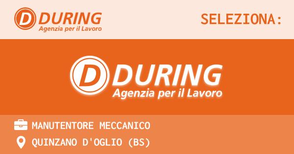 OFFERTA LAVORO - MANUTENTORE MECCANICO - QUINZANO D'OGLIO (BS)