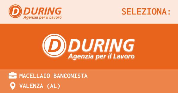 OFFERTA LAVORO - MACELLAIO BANCONISTA - VALENZA (AL)