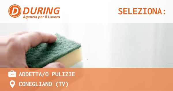 OFFERTA LAVORO - ADDETTA/O PULIZIE - CONEGLIANO (TV)