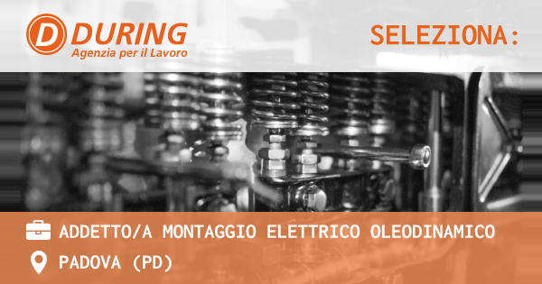 OFFERTA LAVORO - ADDETTO/A MONTAGGIO ELETTRICO OLEODINAMICO - PADOVA (PD)