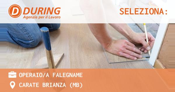 OFFERTA LAVORO - OPERAIO/A FALEGNAME - CARATE BRIANZA (MB)