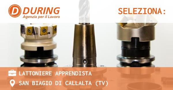 OFFERTA LAVORO - LATTONIERE APPRENDISTA - SAN BIAGIO DI CALLALTA (TV)