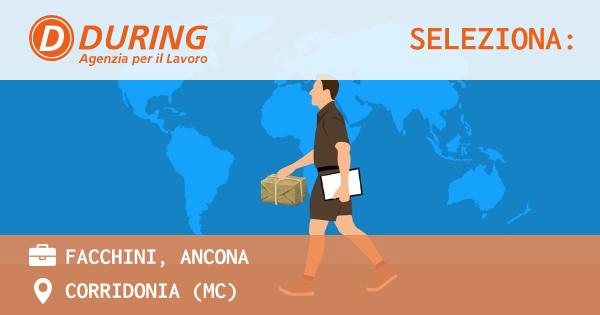 OFFERTA LAVORO - FACCHINI, ANCONA - CORRIDONIA (MC)