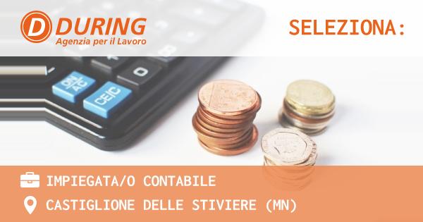 OFFERTA LAVORO - IMPIEGATA/O CONTABILE - CASTIGLIONE DELLE STIVIERE (MN)