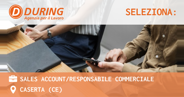 OFFERTA LAVORO - SALES ACCOUNT/RESPONSABILE COMMERCIALE - CASERTA (CE)