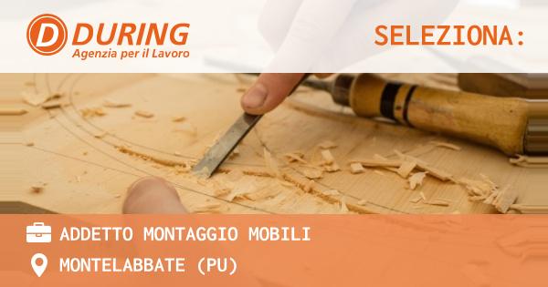 OFFERTA LAVORO - ADDETTO MONTAGGIO MOBILI - MONTELABBATE (PU)