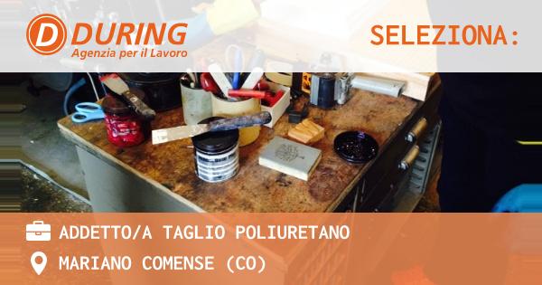 OFFERTA LAVORO - ADDETTO/A TAGLIO POLIURETANO - MARIANO COMENSE (CO)