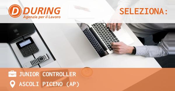 OFFERTA LAVORO - JUNIOR CONTROLLER - ASCOLI PICENO (AP)