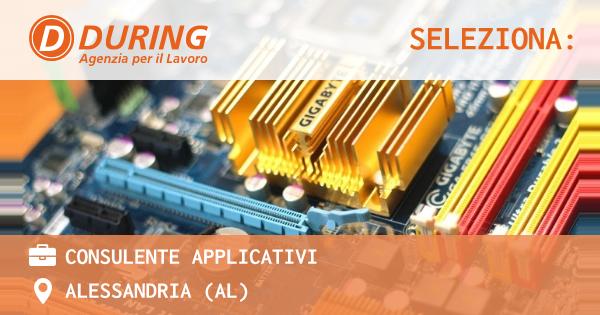 OFFERTA LAVORO - consulente applicativi - ALESSANDRIA (AL)
