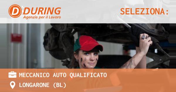 OFFERTA LAVORO - MECCANICO AUTO QUALIFICATO - LONGARONE (BL)