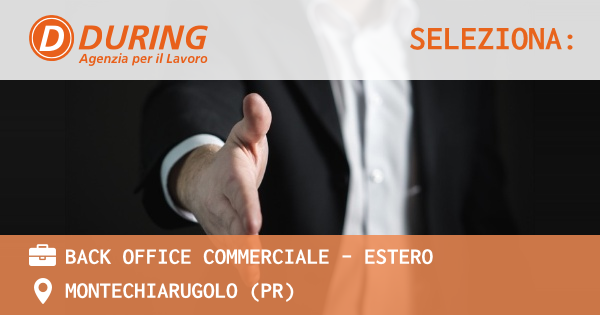 Back Office Commerciale - Estero