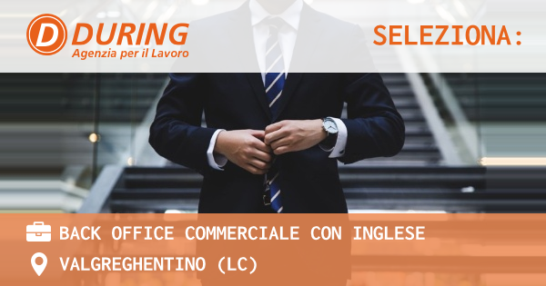 BACK OFFICE COMMERCIALE CON INGLESE