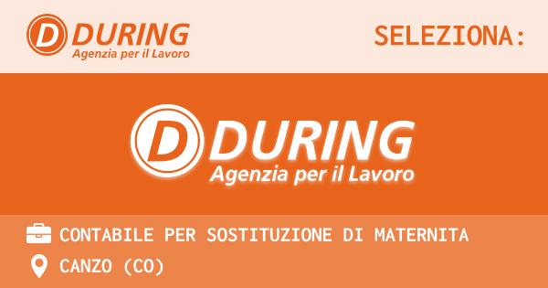 OFFERTA LAVORO - CONTABILE PER SOSTITUZIONE DI MATERNITA - CANZO (CO)