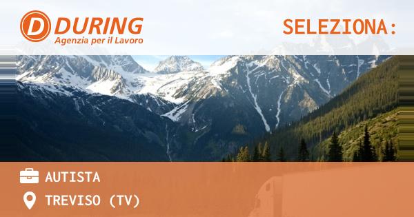 OFFERTA LAVORO - Autista - TREVISO (TV)
