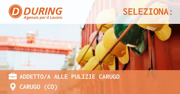 ADDETTO/A ALLE PULIZIE CARUGO - CARUGO (CO) - During