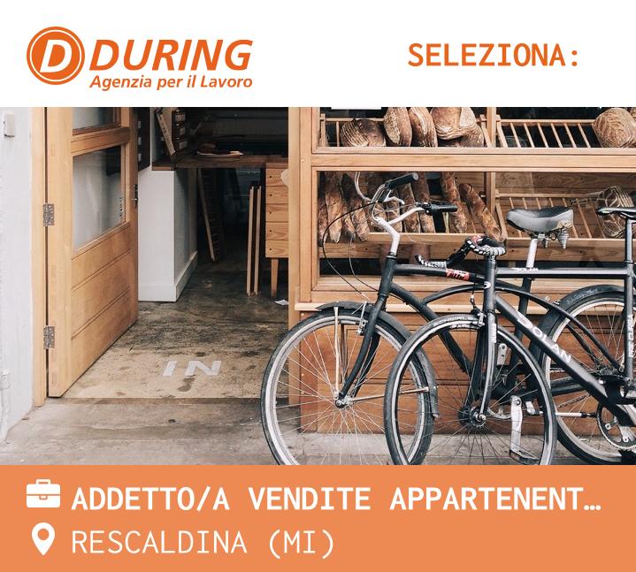 ADDETTO/A VENDITE APPARTENENTE ALLE CATEGORIE PROTETTE L. 68/99 - RESCALDINA (MI)